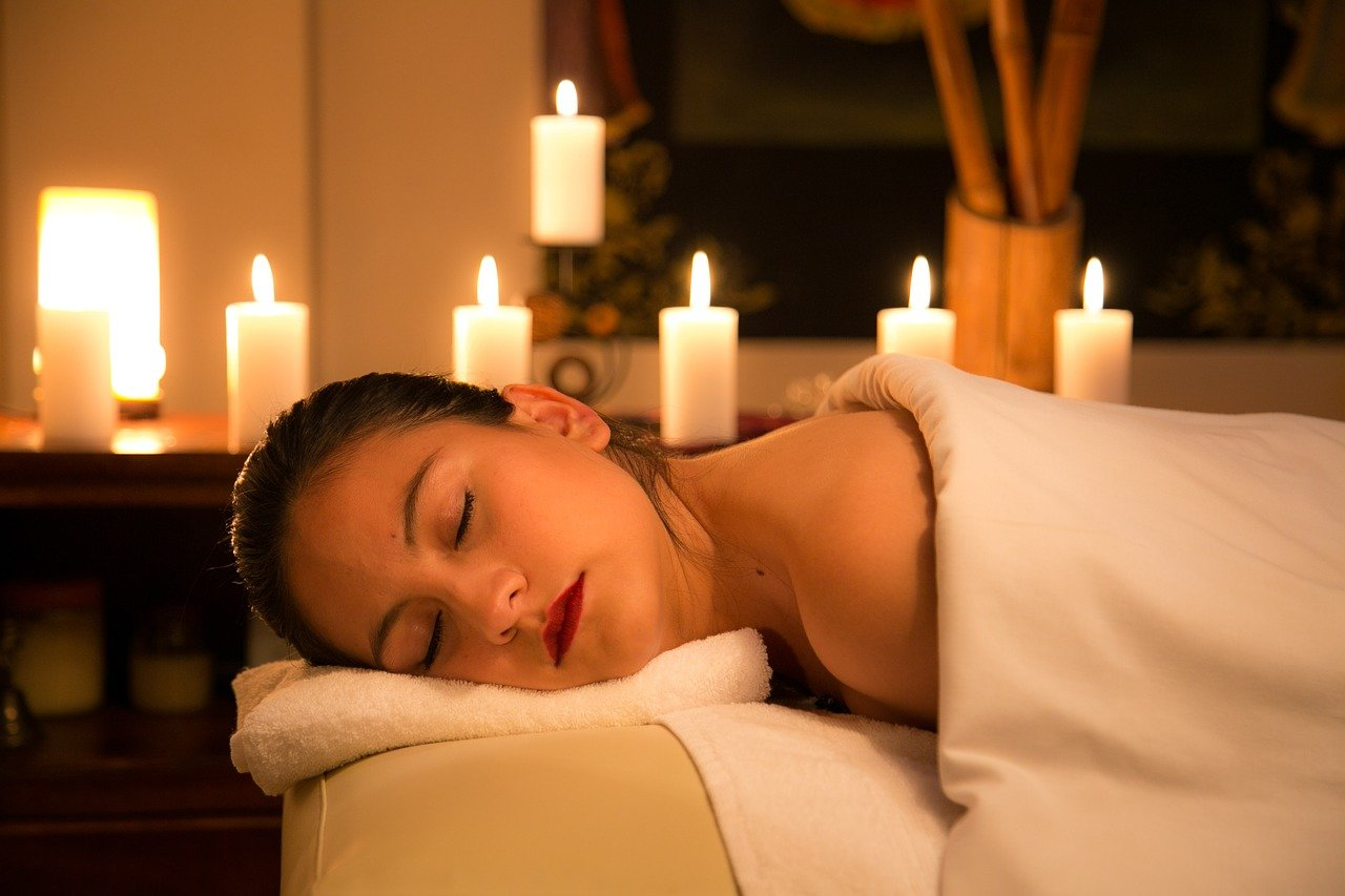 relaxation, candle, room